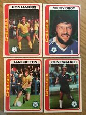 4 Trade Cards Chelsea Players by Topps 1979. Series Footballers (Pale Blue Back)