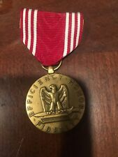 WWII US Army Efficiency Honor Fidelity Good Conduct Medal Pin