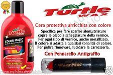 TURTLE WAX COLOR MAGIC CERA PROTETTIVA ROSSO PER AUTO ALONI STRIATURE 500ml ...