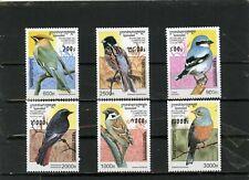CAMBODIA 1997 Sc#1598-1603 FAUNA/BIRDS SET OF 6 STAMPS MNH