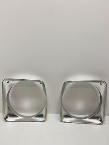 74- 76 Dodge Truck D-100  Headlight Bezel Trim Ring 3494217-L &3494216-R OEM R&L