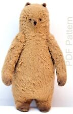 """PDF E-pattern 7.5"""" Artist Plump Winter Teddy Bear/sewing instructions/email file"""