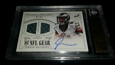 BGS 9.5 Jordan Matthews Rookie Patch Auto 2014 Panini National Treasures #2/99