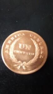 Republic of El Salvador 1892 year 1 sentavo Thracian Cap.Freedom copper