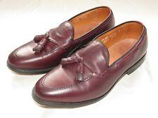 Allen Edmonds Grayson Tassel Loafer Sz 8.5 EE Wide Merlot Burnished Calf Leather
