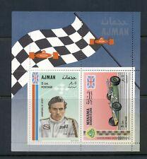 Ajman #379 (1969 Race Car in sheet with Manama #B152)
