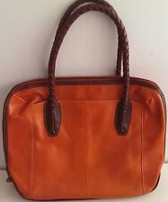 Orange Leather Crossbody (Ladies Handbag)