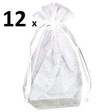12 Amscan Large Organza Box Bottom Favor Bags Wedding Party Favours 10 x 15cm