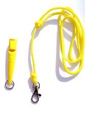 Yellow ACME 210.5 Gundog Whistle & Yellow Turks Head Knot Lanyard