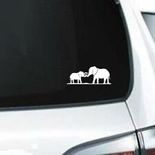 B264 Elephant Love mother daughter son father vinyl decal car sticker