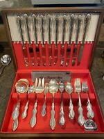 Wm. Rogers Mfg Co Extra Plate Silver Camelot/Melody 53 pc Beautiful 10 Place set