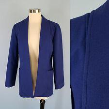CHICO'S Cobalt Blue Soft Heavy Felt Open Front Coat Jacket 1 M 8 10