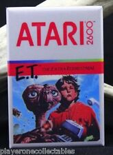 "E.T. Atari 2600 Game Box 2"" X 3"" Fridge / Locker Magnet. Classic Video Game!"