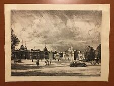 The Horseguards Parade Leonard R Squirrell Original Etching Palace At Whitehall