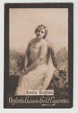 Ogdens Guinea Gold Base M Actors & Actresses List Mh MB116 - Amelia Bingham