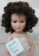 Doll Wig Size 9-10 Brown - Tons of Short Tight Ringlet Curls - Nn43