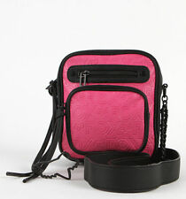 NWT Cute Womens Girls Pink & Black Fox Racing Network Crossbody Sling Purse Bag