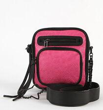 NWT Cute Womens Girls Pink & Black Fox Racing Network Crossbody Sling Purse Bag