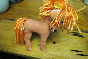R Dankin Dream Pets Horse – Orange Stiff Plush toy