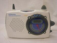 Emerson Portable AM/FM Radio Clock TV Sound Weather Band Plug or Batteries