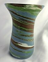 "Desert Sands Pottery 4"" Carnation Vase Mission  swirl Pottery"