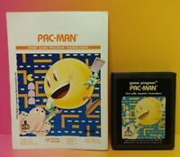 Atari 2600 Pac-Man Game & Instruction Manual Tested Works Rare