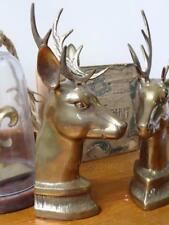 Pair Vintage HollyWood Regency Mid Century Brass Stags - Brass Deer - Book Ends
