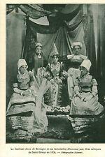 Document ancien duchesse Anne de Bretagne Saint Brieuc issue de magazine 1906