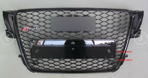 RS5 Style Black Honeycomb Front Grille Grill For Audi A5 S5 Sline 08 09 10 11