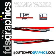 Yamaha 15hp 2 stroke outboard engine graphics/sticker kit