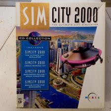 SimCity 2000 DOS (PC, 1993) Maxis Big Box Complete CIB Vintage