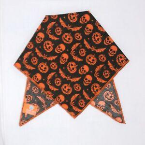 Pumpkin & Bats Black Dog Bandana / Scarf - 3 sizes to choose from!