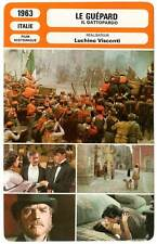 FICHE CINEMA : LE GUEPARD - Lancaster,Delon,Cardinale,Visconti 1963 The Leopard