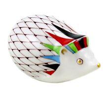Hungarian Porcelain Hollohaza Fishnet Hedgehog Figurine