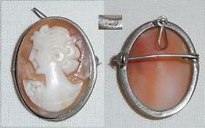 wunderschöne alte Gemme in 800 Silber gefaßt als Brosche oder Anhänger