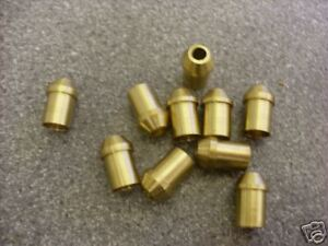 "3/32"" Pipe Nipples Brass pack of 10. Live steam"