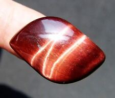 """1.1"""" Gift Chatoyant RED Tiger's Eye Crystal CAB Gem"""