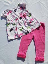 Gymboree Garden Friends Shirt Leggings Size 2T Ruffle Swing Top Butterfly Vtg