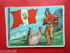 figurines cromos cards figurine sidam gli stati del mondo 6 perù bandiere flags