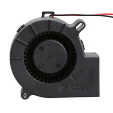 2pin 75mm Brushless DC Cooling Blower Fan Exhaust 7525S 12V 0.18A 75x25mm