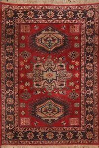 Vintage Geometric Karastan USA Oriental Area Rug Wool Decorative Carpet 4x6 ft