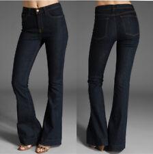J Brand Size 29 High Rise Dark Wash Stretch Denim Bianca Skinny Flare Jeans Pure