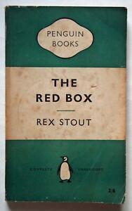 THE RED BOX / REX STOUT / PAPERBACK 1st PENGUIN EDITION PENGUIN CRIME1957 RARE