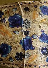 "GORGEOUS "" WOMEN'S Mens 100% SILK  Scarf Natural Classic Royal"