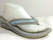 Eddie Bauer Flip Flops Thong Sandals Blue Gray Slides Womens 6 Med Casual Shoes