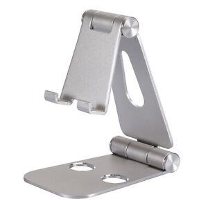 ✅ Handyhalterung Tisch Halter Stativ Tablet Halterung Smartphone Ständer silber