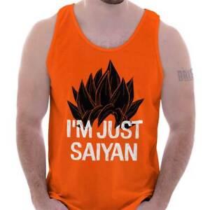 Just Saiyan Cute Goku Anime TV Show Gift Idea Adult Tank Top Sleeveless A-Shirt
