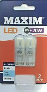 G9 LED DAYLIGHT 2W=20W TWIN PACK CAPSULE BULBS