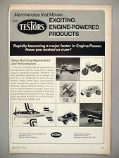 Testors Engine-Powered Toy Cars & Planes PRINT AD - 1973 ~ toys, models, hobby