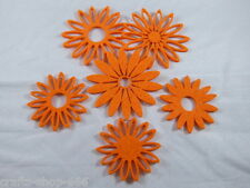 6 Filzblumen Streudeko Tischdeko Streuelemente   Neu